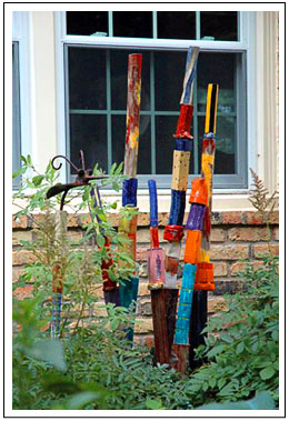 Garden Poles Garden Art