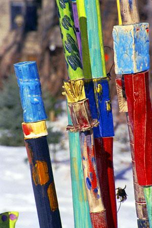 Garden Poles View Garden Art